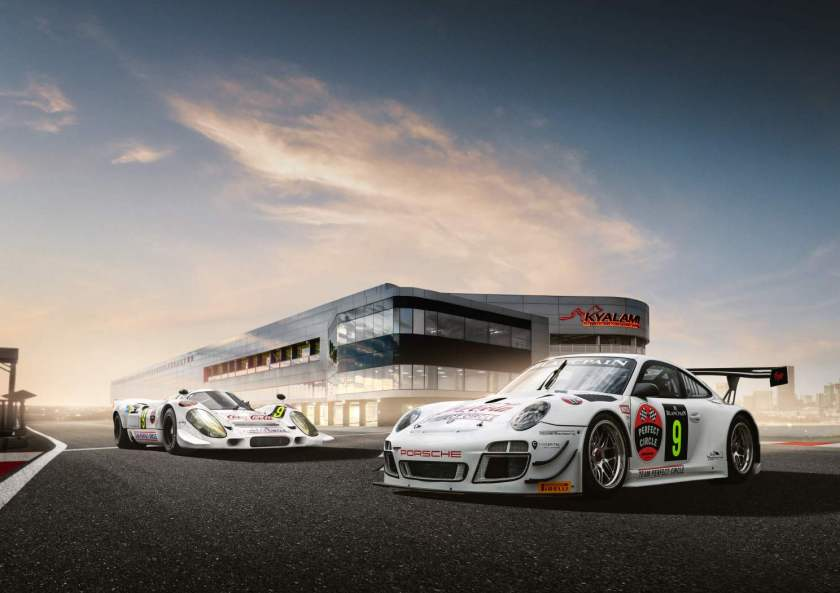 Team Perfect Circle Porsche 911 GT3 R and 917